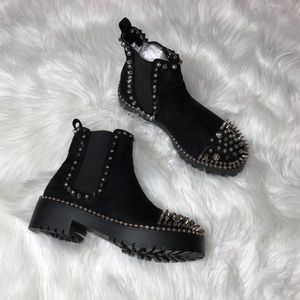Spiked ankle boots